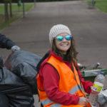 Nuestra monitora Lidia al terminar la jornada de limpieza