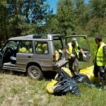 Una vez más el Land Rover fue necesario para sacar los residuos