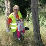 """Con seguridad esta """"peque"""" va a ser nuestra voluntaria más joven. ¡Menos de un añito! ¡Vivan los padres comprometidos con el medio ambiente!!"""
