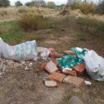 Encontramos muchísimos sacos con escombros d obras