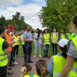 El Director General de Calidad Ambiental de La Rioja, Jose María Infante quiso agradecer a todos los voluntarios su colaboración en la limpieza de riberas.