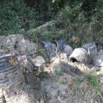 Parte de estos tubos están enterrados. No nos lo ponen fácil