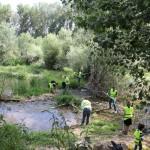 Nuestro equipo de voluntarios tomó las riberas del Ebro para dejarlas como la patena.