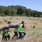 Y para los residuos más pesados, es imprescindible el trabajo en equipo.