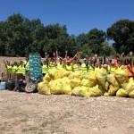 ¡Increible pero cierto! ¡Menuda cantidad de residuos que gracias a los Amigos de los Ríos ahora ya están donde deben!